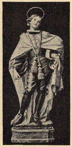 San Luis Gonzaga, en traje de Caballero de Santiago. Estatua que se venera en la Iglesia de Uclés, de la provincia de Cuenca.