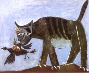 Pablo Picasso - Cat and Bird (1939)