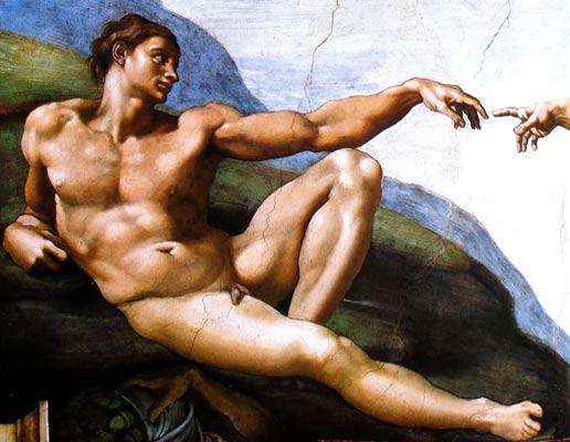 La creación de Adán - Miguel Ángel Buonarroti